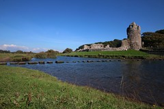 Ogmore Castle (Taracy) Tags: ogmore castle sea water stepping stones wales