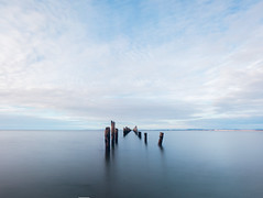 Bridport Pier, Tas. (Billy Avery Photo) Tags: tas tasmania discovertasmania canon 600d canon600d sigma wide wideangle 1020mm panorama pano sun sunset winter landscape creek river water selftaught clouds lightroom adobe cs6 photoshop