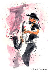 Musical interlude 1 (Tineke Lemmens) Tags: tinekelemmens music watercolors clarinet