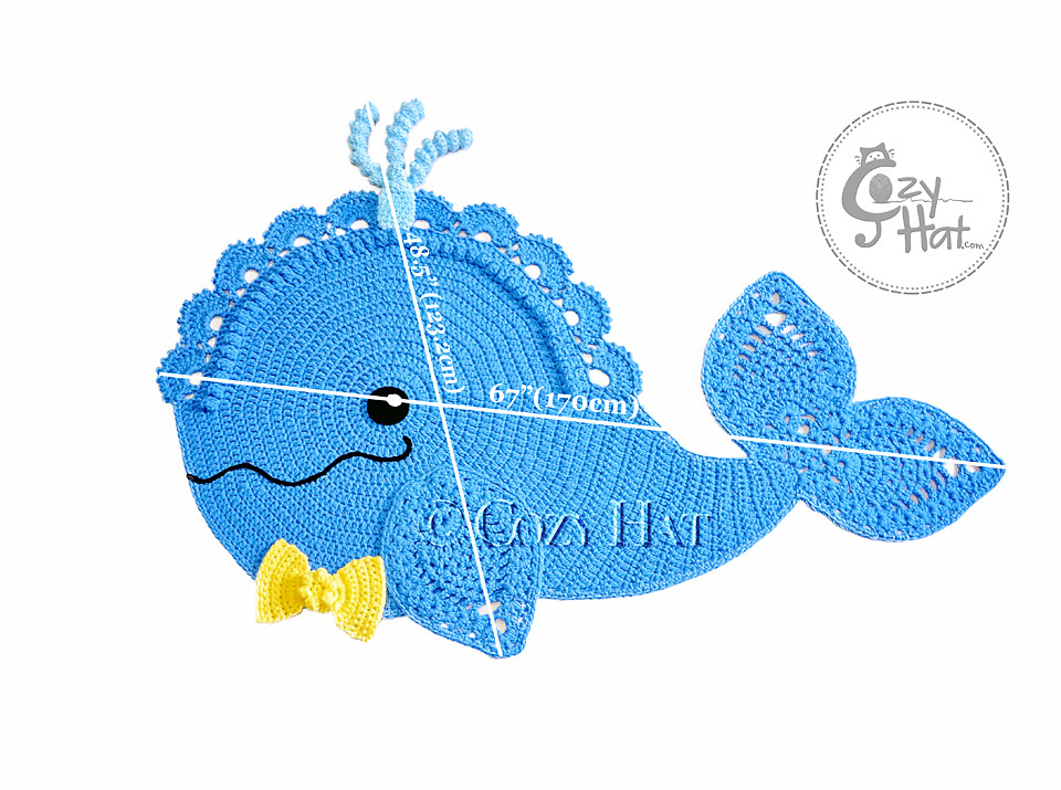 Whale Rug Crochet By Cozy Hat (Anastasia Wiley) Tags: Cozy Rug Crochet Blue