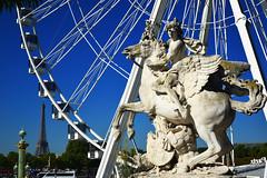 Paris (JBGenve) Tags: france paris eiffel tour tower sculpture circle granderoue concorde extrieur toureiffel eiffeltower
