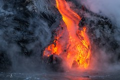 Torn apart (gmacfly) Tags: tour boat pacific chaos melting hot volcano nature oceanentry hawaii ocean lava