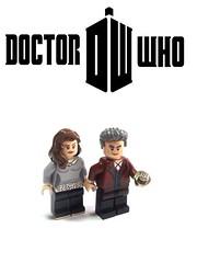 Doctor Who Season 9 : Custom Clara Oswald and 12th Doctor (Peter Capaldi) (rybalchenko.custom) Tags: lego doctor who custom season 9 clara oswald 12th