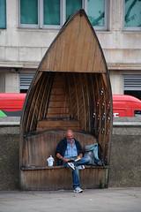 Boat Bench! (Jainbow) Tags: lambeth london bench boat albertembankment jainbow