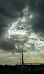 Sky lights (nican45) Tags: 2016 25092016 htc htc10 heslington september universityofyork york yorkuniversity yorkshire bicycle bike clouds cycle cycling floodlight light mobile mobilephone phone sky sport sportvillage university velodrome