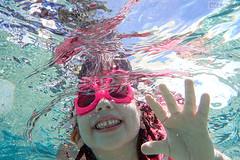 Underwater smile (Nino H) Tags: little girl underwater slime swimming water olympus tg4