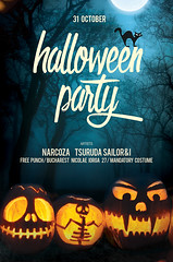 Free Halloween Flyer (DusskDesign) Tags: halloween free flyer psd template halloweenflyer poster pumpkins scary forest dark trickortreat
