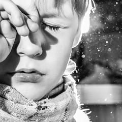 Dreaming (I.Dostl) Tags: light boy sleeping portrait white black backlight square sleep dream speedlight