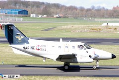 Embraer EMB-121 Xingu 74 Glasgow - Prestwick 2015 (seifracing) Tags: france french scotland marine europe glasgow navy scottish police national xingu emergency protection 74 spotting strathclyde prestwick embraer ecosse emb121 seifracing