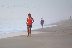 Jogger on the beach #1 - Mar 20, 2015
