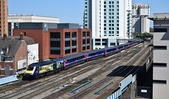 43144 at Cardiff Central. 18/4/15 (Nick Wilcock) Tags: swansea cardiff firstgreatwestern hst highspeedtrain londonpaddington cardiffcentral class43 fgw 43144 1l62