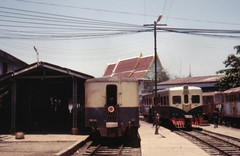 Once upon a time - Thailand - Ban Laem (railasia) Tags: station thailand eighties infra srt teikoku samutsakhon metergauge banlaemstation motorcartrailer maeklonglines