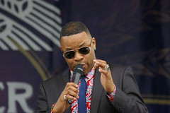 Davell Crawford with the New Orleans Jazz Orchestra at French Quarter Fest 2015 Day 3, April 11