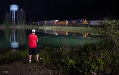 Q272 @ Deshler (benpsut) Tags: nightphotography railroad ohio lake night fishing unitedstates trains bo nightphoto resevoir csx baltimoreandohio deshler csxt autoracks q272 csxtoledosub csxt3155