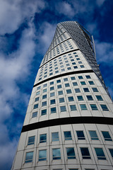 Malm's Turning Torso (Stephen Brown - smb51095) Tags: malm malmo sweden travel abroad turning torso turningtorso architecture building art design modern fantastic incredible beautiful structure tower apartments architect architectural blue sky