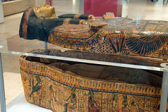 Ancient Egyptian Mummy (alyellax) Tags: city edinburgh museum nationalmuseum photography scotland ancient ancientegypt coffin death egypt history hieroglyphics mummy mummification old preserved sarcophagus wrapped