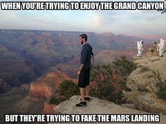 When You're Trying To Enjoy The Grand Canyon (ipressthis) Tags: mars sun moon plane truth flat god earth space fake canyon landing yang dome reality bible gran curve yinyang yin universe hoax curvature flatearth nocurve
