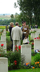 British headstones at Thiepval (Richard Buckley) Tags: somme centenary picardy france battle war memorial poppies field corn scene view statue soldier basilica cross headstone grave greatwar worldwar1 caribou troops irish newfoundland australian shell artillery cemetery trench ceremony
