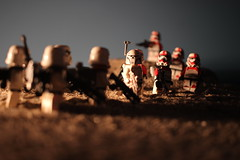 """""""We were sent to take of your 'Raider problem."""" (kevinmboots77) Tags: lego legography starwars stormtroopers sandtroopers sandbox shocktroopers"""