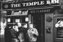 chatting out the pub () Tags: street ireland portrait people blackandwhite bw dublin irish monochrome easter photography rising anniversary crowd streetphotography 100th groupshot centenary