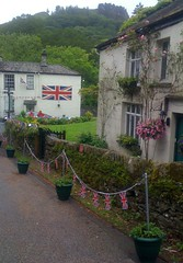 197 of 366 (I line photography) Tags: 365project ryda cottages unionjack flag greengrass window trees greysky
