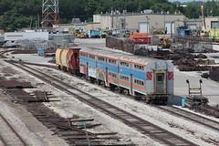 Random Bi Levels (CC 8039) Tags: mrc metx iais cnw crip trains passenger bi level blue island illinois