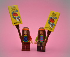 Hippies (MinifigNick) Tags: hippies lego minifigures
