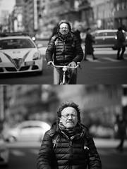 [La Mia Citt][Pedala] (Urca) Tags: milano italia 2016 bicicletta pedalare ciclista ritrattostradale portrait dittico bike bicycle nikondigitale mir biancoenero blackandwhite bn bw 872172