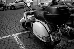 Vespa - Napoli (Martok) Tags: napoli neaples granita januarius gennaro love michele pizzeria san saint pizza caff coffee espresso vespa leica monochrom