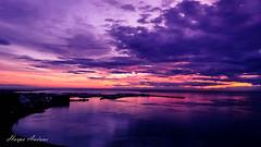 Reykjavk Harbor (harpaauduns) Tags: reykjavik towersuitesreykjavk iceland midnightsun sunset harbor purple