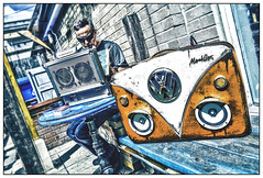 Mook Box Boom Box at Upfest 2016 (tim constable) Tags: boombox dj music upfest 2016 bristol southville uk england streetart festival luggage retro vw speakers soundsystem funky custom customised headlights grille campervan hdr hdreffect fun timconstable vintage bespoke unique digital mookbox classic djmook suitcasesoundsystem