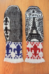Paris Mitts Back Front (ChaucerCat) Tags: dreamincolor smooshywithcashmere mitten mittens colorwork paris eiffeltower eiffel fleurdelis stranded knit knitting yarn ravelry