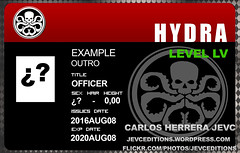 Hydra Identicards Outro (CarlosHerreraJevc) Tags: wordpress flickr outro example hd fanartsjevc jevcupeditions photoshop coreldraw marvel comics movies 2016 series tv anyone hailhydra identicards ids ejemplos anonimo  levellvl agentsofshield