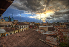 Iquitos Sunset 01 (Dave Kehs) Tags: iquitos peru 2016 dave kehs bingham canon 1635 hdr sunset clouds buildings city