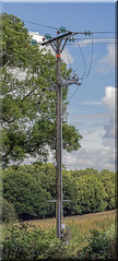 Vertical Panoramic Power Pole (Mark Wasteney) Tags: powerlines electric telegraphtuesday panoramic photostitch photoborder tall pole powerpole vertical canon100mm28l