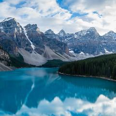 Panorama 5 (Adrian De Lisle) Tags: lakemoraine banffnationalpark banff mountains clouds panorama