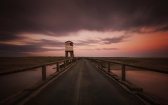 All Along The Watchtower (Captain Nikon) Tags: lindisfarne holyisland causeway northumberland watchtower bridge covergence symmetry verylongexposure bigstopper nikond7000 sigma1020mmf4 moody