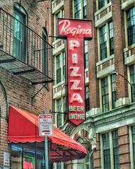 Regina Pizza (podolux) Tags: neonsign neon snapseed postprocessing font fontspotting boston ma bostonma september2016 2016 roadtrip northendboston a6000 sonya6000 reginas pizzajoint restaurant