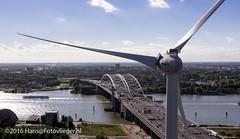 Wind turbine, Rotterdam - 02032crop (Fotovlieger (aka hanselpedia)) Tags: rotterdam aerial briennenoordbrug maas river rivier windmolen windturbine groeneenergie panorama
