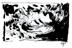 Wolfram Zimmer: Storm - Sturm (ein_quadratmeter) Tags: wolfram zimmer bilder kunst malerei zeichnung images foto photo fotos photos gemlde wolframzimmer konzeptkunst objektkunst meinzimmer freiburg burgbirkenhof kirchzarten ausstellung ausstellungen pinsel tusche ink dessin exhibition exhibitions drawing landschaft landscape improvisation