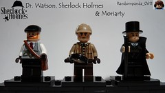 Dr. Watson, Sherlock Holmes & Moriarty (Random_Panda) Tags: films film movie movies tv show shows television lego figs fig figures figure minifigs minifig minifigures minifigure purist purists character characters book books