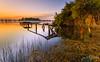 Ovar - Sunrise, Ria de Aveiro (paulosilva3) Tags: sunrise canon garden de landscape eos pier lee filters ria aveiro waterscape 6d polariser ovar abigfave