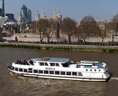 Mercia (1) @ Tower Bridge 09-04-15 (AJBC_1) Tags: uk england london boat ship unitedkingdom vessel pooloflondon riverthames mercia partyboat touristboat passengerboat westminsterpartyboats ajc