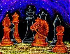Cosmic Battle (traqair57) Tags: chess knights chessboard chessgame chessplay chessart chessdrawing chessclipart chessartists