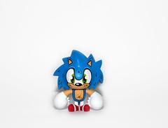 Spiki Sonic (WuzOne) Tags: toy diy geek vinyl sonic kidrobot sega collectible custom commission dunny vinyltoy munny artoy spiki wuzone