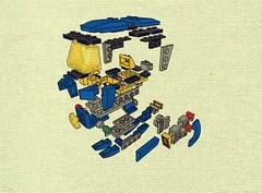 CS tuk-tuk exploded (JPascal) Tags: classic lego space tuktuk cs