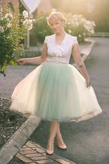 Tulle Skirt (findingfemme) Tags: mint midi ballarat tulleskirt pussybow alexandragrecco rosegoldhair reviewaustralia