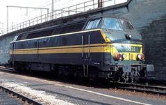 5524  Kinkempois  19.09.81 (w. + h. brutzer) Tags: analog train nikon eisenbahn railway zug trains locomotive 55 belgien lokomotive diesellok eisenbahnen sncb kinkempois dieselloks webru