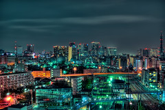 Yokohama night in HDR (Arutemu) Tags: city urban japan night japanese asia cityscape view yokohama kanagawa 夜景 japon ville 風景 japonais 光 街 jr 景色 町 夜 全景 tennocho japonaise 都市 景観 都会 相鉄線 夜光 平沼橋 光景 西横浜 見晴らし 都市景観 観点 都市の景観 iwamacho 町並び