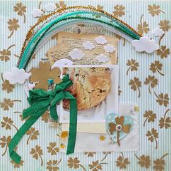 Irish Soda bread 2014 (Ashley Calder) Tags: stencils clouds gold ribbon bows